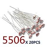 20 STÜCKE x 5506 Lichtabhängige Widerstand LDR 5 MM Fotowiderstand großhandel und einzelhandel...