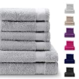 Twinzen Chemikalien-Frei Handtuch Set (6-Teilig) mit 4 Handtüchern und 2 Badetüchern, 100%...