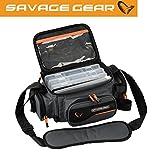 Savage Gear System Box Bag M (20x40x29cm) Kdertasche inkl. 3 Kderboxen & Ziplock Bags, Angeltasche...