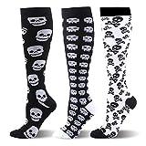 Kompressionsstrümpfe für Damen Herren- 3 Paar 20-30mmHg Kompressionssocken Compression Socks...