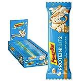 PowerBar Protein Nut2 White Choco Almond 18x(2x22,5g) - High Protein Low Sugar Riegel