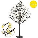 KESSER Kirschblütenbaum 220 LED | 220cm Lichterbaum Indoor Outdoor Metallfuß Stabil | Weihnachten...