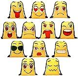 Amycute Mitgebsel Kindergeburtstag Geschenktten 2 Stck Emoji Turnbeutel Gastgeschenke Beutel Emoji...