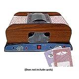 Rikey Kartenmischmaschine 2 Decks Elektrische Mischmaschine als Kartenmischgerät batteriebetrieben...