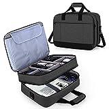 Luxja Beamertasche, Doppelschicht Projektortasche für Beamer und Zubehör, Beamer Reisetasche für...