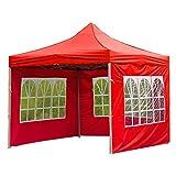 HelloCreate Zelttuch Outdoor Faltbar Wasserdicht Regenfest Zelttuch Pavillon Seitenwand