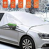 MATCC Frontscheibe Abdeckung Auto Scheibenabdeckung Winterschutz Faltbare Abnehmbare Autoabdeckung...