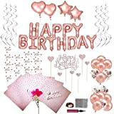 Geburtstagsdeko,deko rosegold ,ballons rosegold happy birthday ballon,happy birthday deko,rosegold...