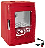 EZetil Coca-Cola Mini Kühlschrank 25 mit transparenter Tür, 12/230V - 23L mit Kühl- und...