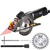 Handkreissäge, Teccpo Kreissäge 480W, reiner Kupfermotor, mit Laserführung, Schnitttiefe 43 mm...