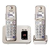 Panasonic KX-TGE222GN DECT Seniorentelefon mit Anrufbeantworter (schnurlos, hörgerätekompatibel,...