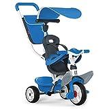 Smoby - Baby Balade blau - Mitwachsendes Kinderdreirad mit Schubstange, Sitz mit Sicherheitsgurt,...