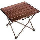 Trekology tragbarer Camping-Tisch mit Aluminium-Tischplatte, zusammenklappbar, mit Tasche, für...