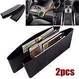 2x Stück Set Auto Organizer Sitzablagefach Utensilientasche Schlitz Tasche Sitzseitentasche...