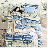 CXDDD Bettwsche-Set inklusive Bettbezug Flachbetttuch Kissenbezug Soft Fashion Bettbezug-Set...