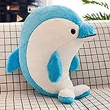 TIANLIYUN Plüschtier Das Neue Delphin-Plüschspielzeug Kissen (Color : B, Size : 45CM)