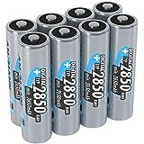 ANSMANN Akku AA Typ 2850 mAh (min. 2650 mAh) NiMH 1,2 V (8 Stück) - Mignon AA Batterien...