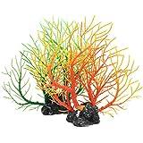 Jinlaili 2 Stück Aquarium Ornament Pflanzen, Künstliche Simulation Korallenbaum, Aquarium Pflanzen...