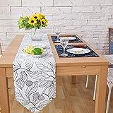 Tischläufer Land-Art-Blumen stickten Tischläufer for Esszimmer, Foyertisch, Sommerfeste Esszimmer...
