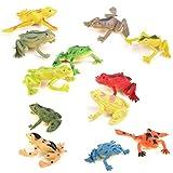 MagiDeal 12pcs Kunststoff Frosch Figuren Simulation Dekoration Kinder Spielzeug