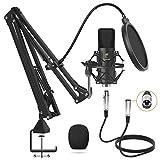TONOR XLR Mikrofon Kondensator Mikrofon Kit Professional Nieren Studio mit T20 Mikrofonarm,...