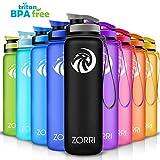 ZORRI Sport Trinkflasche auslaufsicher, BPA Frei & Umweltfreundlich Wasserflasche Fr Kinder &...