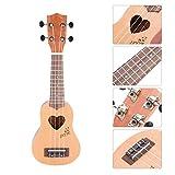 Boquite Konzert Ukulele, 17 Zoll Professional Portable 4 String Ukulele mit Tasche Geschenk für...