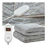 RONGXUE Decke Elektrische Decke Bett Fleece Beheizte Maschinenwaschbare Unterdecke Dual Controls...