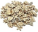 300 Stück Holzverzierungen Holzscheiben Deko klein Holzherz zum Basteln, Streu Deko Tischdeko...