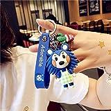 Schlüsselanhänger mit Cartoon-Tier-Kreuzung, niedlicher Silikon-Puppen-Charm, Nintendo Switch,...
