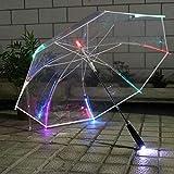 Transparente Regenschirm, Geeignet for Atmosphärische Geschenke, Glänzend Regenschirm, Geeignet...
