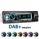 XOMAX XM-RD269 Autoradio mit integriertem DAB+ Tuner, FM RDS, Bluetooth Freisprecheinrichtung, USB,...