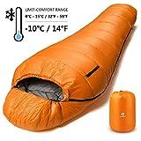 Bessport Schlafsack Winter   -10°C Outdoor Mumienschlafsack für Camping und Bergsteigen mit...