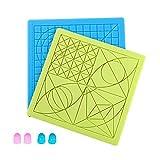 Sovol 3D-Stiftmatte, 2 PCS 3D-Druckstift Pad Silikonmatte Groß Grundvorlage mit 4 Fingerschutz,...
