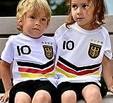 ElevenSports Deutschland Trikot + Hose mit GRATIS Wunschname + Nummer + Wappen Typ #DV im EM/WM...