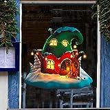 BLOUR Cartoon Fee Hut Weihnachtsdekoration Schöne Haus Fenster Aufkleber Kunst PVC Vinyl...