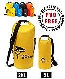 REVALCAMP Dry Bag 5L Gelb - Nicht Krebserregendes PVC* - wasserdichte Tasche aus TPU - Kein bler...