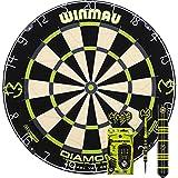 Winmau MvG Diamond Edition Michael Van Gerwen Bristle Dart Board Dartscheibe & MvG Ambition Black...