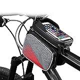 Rahmentaschen Hochwertige Fahrrad wasserdichte Auto Fronttasche Mountainbike Touchscreen Front Beam...