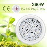 360W Grow Light, hängend Typ 36 LED Grow Light Vollspektrum Doppelchips Hydroponische...