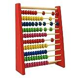 DEDC 20cm Kinder Holzperle Abakus Zählrahmen pädagogisch Lernen Mathe Spielzeug,...