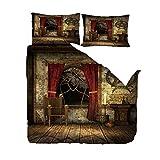JNBGYAPS Bettwäsche-Set Nachtkerzen und Fensterbank -weiche Flauschige Bettbezüge mit...