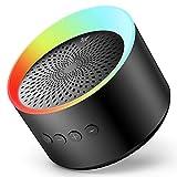 Axloie Bluetooth Lautsprecher, Musikbox Tragbarer LED Bluetooth Box mit Freisprechfunktion für...