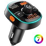 Bovon Bluetooth FM Transmitter QC3.0 Auto Ladegerät, Bluetooth Auto Adapter Radio Transmitter [mit...