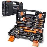 Haushalts-Werkzeugkoffer,TACKLIFE 56-teilig Haushaltskoffer, Multifunktion-Werkzeugkoffer für den...