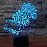 3D Lampe Gabelstapler Auto Modell 3D Nachtlicht 20 Farbwechsel USB Schreibtisch Tischleuchte Bulbing...
