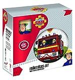 POS 27123 - Frühstücksset mit Feuerwehrmann Sam Motiv, 3 teiliges Geschirrset für Kinder, aus...