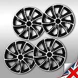 NRM Quad Bicolor Radzierblenden 4 x Universal Radkappen Schwarz/Silber 4er Set (17' Zoll)