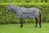 RidersDeal Collection Fliegendecke Zebra inkl. Halsteil, Größe: 135cm, Farbe: Schwarz-Weiß