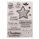 rryilong Stempel, transparent, DIY, Weihnachtsstern, Scrapbooking, Transparent, Fotoalbum, Papier,...